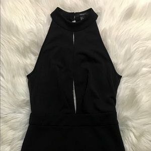Forever 21 dress in black with open back