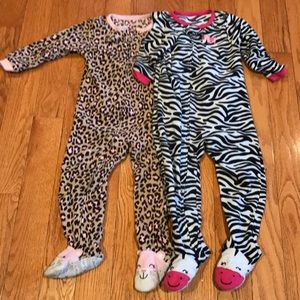 2 toddler girl pjs