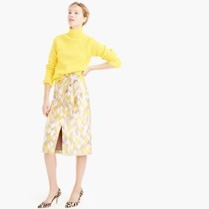 J. Crew Collection Chevron Jacquard Skirt