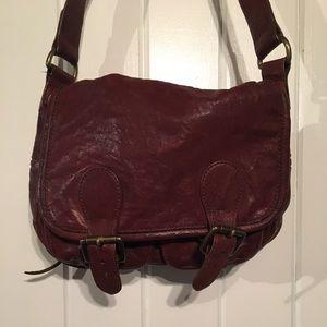 Leather Banana Republic Messenger Bag