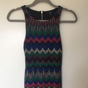 Sparkling colorful minidress