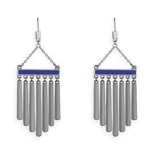 NEW Jewelmint Feathered Fan Dangle Earrings