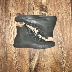 Converse Army Green Chuck Taylors - Rubber