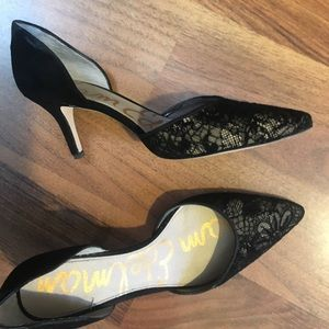 6.5 Lace Pointed Toe Pumps