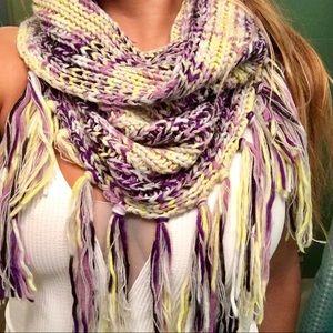 BCBGeneration Cowl fringe scarf