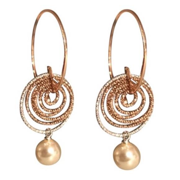 80 off Mia Fiore Jewelry New Chic Rose Gold Tone Silver Pearl Drop