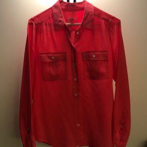 Coral Silk J. crew blouse
