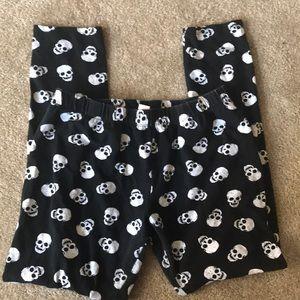 Skull Capri Leggings Size L