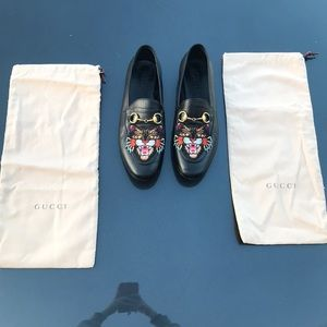 Gucci Lion Head Loafers from Neiman Marcus