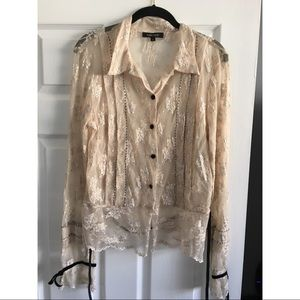 BEAUTIFUL KAREN KAREN KANE LACE BLOUSE. NEW!