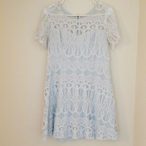 Dresses & Skirts - Light blue lace dress