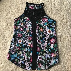 Nicole Miller flowered lace top
