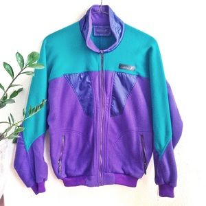 VTG Mobius 90s Color Block Fleece Gaper Ski Jacket