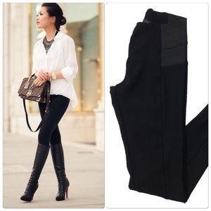 Zara Elastic Waist Ponte Knit Leggings
