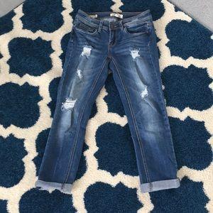 Jeans.  Roll up skinny Capri by dollhouse