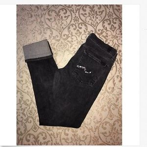 7 For All Mankind Low Roxanne Cuffed Grey jeans!