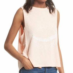 NWT Free People Planet Me Tank Peach L