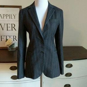 Theory wool pinstripe blazer jacket