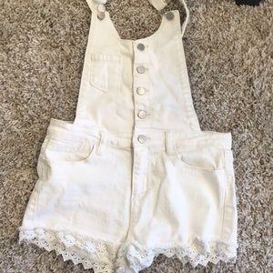 White short overalls