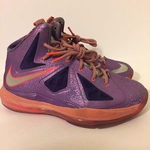 6e8cb759517 Nike Shoes - Nike Lebron X 10 purple galaxy 5Y Womens 6.5