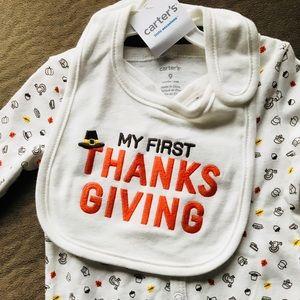 NWT My 1st Thanksgiving 9M Footie Onesie 🦃