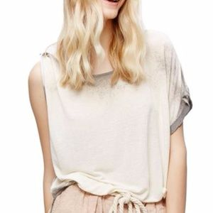 NWT Free People Pluto One-Shoulder Tee Lavender L