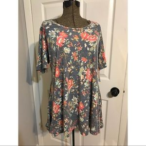 NWT LLR Floral Perfect tee size large
