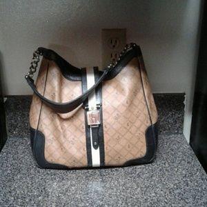 L.a.m.b leather trim purse LOWEST  PRICE