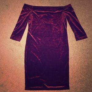 Brand new velvet off the shoulder forever 21 dress