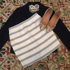 J. Crew Striped Linen Skirt in Size 0