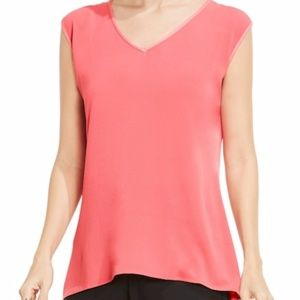 NWT Vince Camuto Mixed Media Top Rossetto L