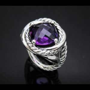 D.Yurman Infinity Ring with 11mm Amethyst Size 6.5
