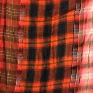 Fall flannel merino wool scarf