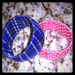 Jewelry - Poker Dot and Plaid bracelet Set