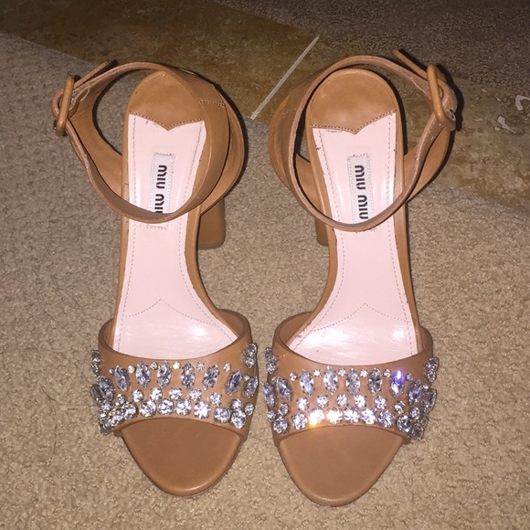 0dfa9def96 MIU MIU crystal city sandal block heel size 38. M_5a0f62e15c12f885a700c087