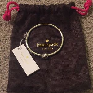 NWT Kate Spade sailors knot bracelet in silver