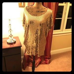Rock a Concert with hot Gold Sequined Top!