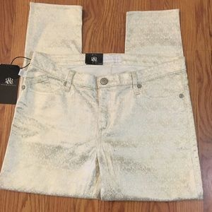 Rock & Republic Gold and Ivory jeans