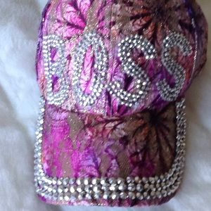 BOSS HAT NEW WITH TAGS PINK