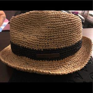 Straw Coach fedora style hat -UNISEX-
