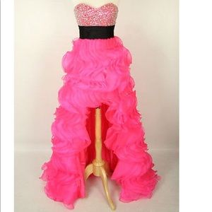 Jovani high low prom dress