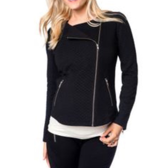 376868f43bcf8 Motherhood Maternity Jackets & Coats | Zipper Detail Jacket L | Poshmark
