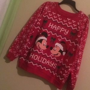 Mickey and Minnie ugly sweater