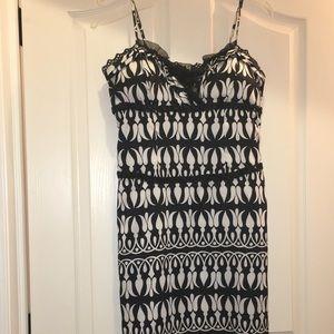 Black and white satin cocktail dress!!