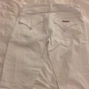 Hudson White Bootcut Jeans size 27