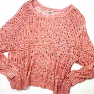 Urban Outfitters Ecote Salmon & White Knit Sweater
