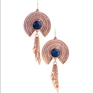 NEW jewelmint roma disc earrings rose gold RARE