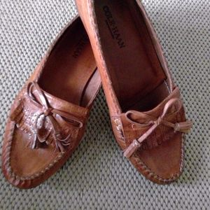 MEN'S Cole Haan Moccasin Style Tan Shoes Worn Once
