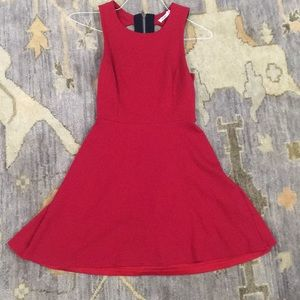 Bailey 44 Red Cut Out Back Dress