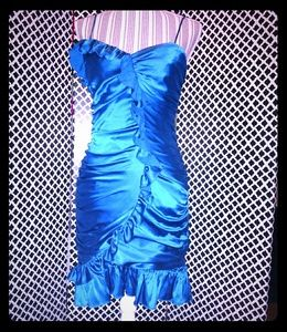 Betsey Johnson royal blue mini cocktail dress